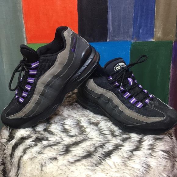 Nike Air Max 95 Shoes Sneakers Black Shadow Purple